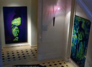 Exposition André Martin, Chronique et autres révélations, vue d'installation, escalier