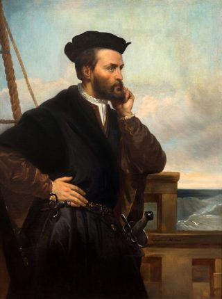 Jacques Cartier par Théophile Hamel, 1844