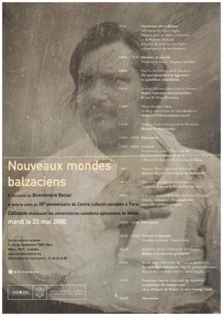 2000-05-23 - Nouveaux Monde Balzaciens - colloque - affiche