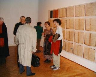 Arnaud Maggs - Notes Capitales - Vue de l'exposition - soirée de vernissage