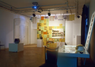 Vue de l'exposition Fuzzy - Paul Collins et Marc Moret