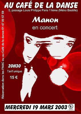 Manon - Café de la Danse 2003