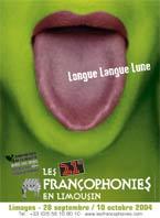 Affiche Francophonies en Limousin 2004