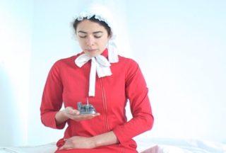 Gunilla Josephson - holding cath in convent