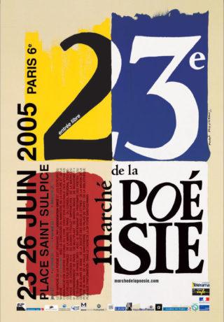 Marché de la poésie 2005