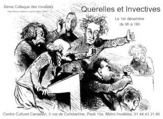 Querelles et Invectives - 10ème Colloque des Invalides