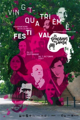 Affiche Festival les Francophonies en Limousin 2007