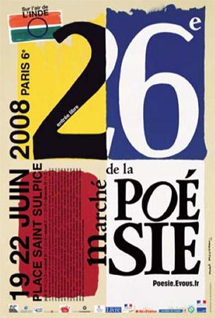 26e Marché de la poésie 2008