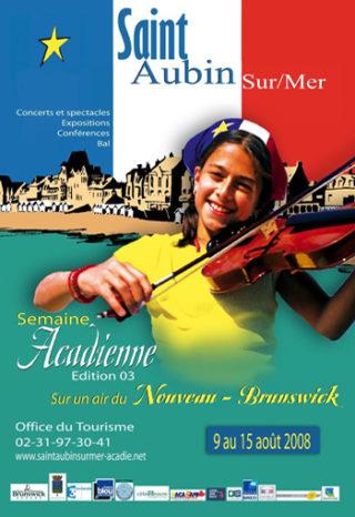 Affiche La semaine acadienne Saint-Aubin-sur-Mer 2008