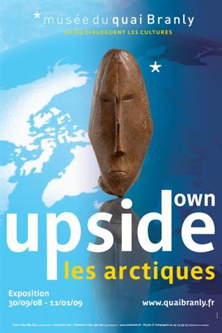 Affiche Upside Down - Les Arctiques - Musée du Quai Branly