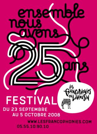 Affiche francophonies en Limousin 2008