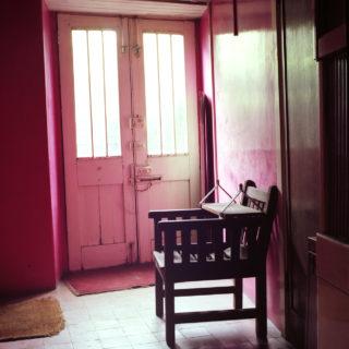 Karin Bubas, Basement hallway wooden chair, 2003