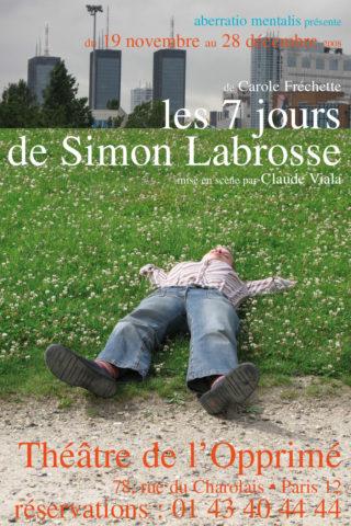 Affiche Simon Labrosse - Carolle Fréchette - théâtre de l'Opprimé