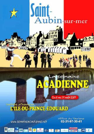 Affiche La semaine acadienne Saint-Aubin-sur-Mer 2009