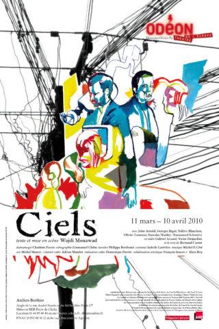 Affiche Ciels Wajdi Mouawad - Théâtre de l'Odéon