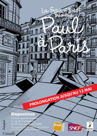 Affichette Fnac SNCF Paul à Paris