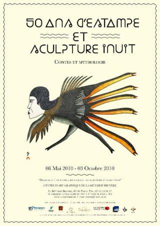 Affiche 50 ans d'estampe et sculpture inuit, 2010