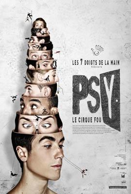 Affiche Psy, Les 7 doigts de la main