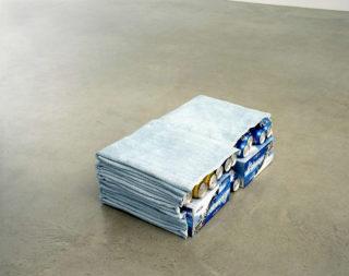 Liz Magor, Double Cabinet (blue), 2001