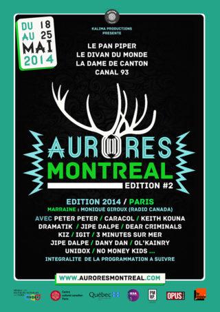 Affiche Fetival Aurores Montréal 2014