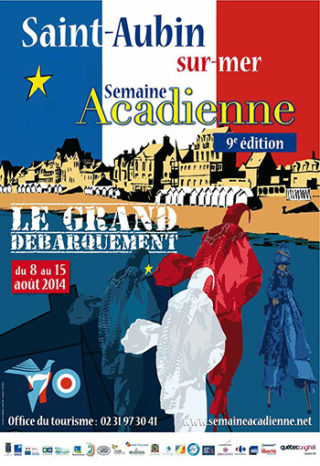 Semaine acadienne 2014 Saint Aubin sur Mer