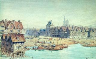 Place de greve, l'Hôtel-de-Ville à Paris 1738