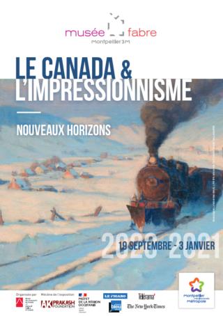 Affiche de l'exposition Le Canada & l'impressionnisme