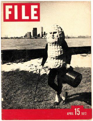 General Idea (avec Image Bank), FILE Megazine, « Mr. Peanut Issue », Vol. 1, No. 1, 15 avril 1972, avec l'aimable autorisation de Art Metropole, Toronto.